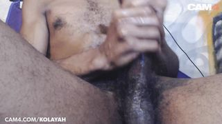Black Twunk Plays with his Huge Dick | CAM4 Male
