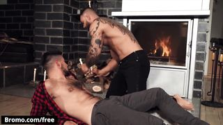 Bromo - Jerome Drips Candle Wax on John D's Chest and Ass, Spanks him & then Sucks his Cock